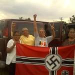 Lakota & Dakota Grandma's Seize Nazi Flag !