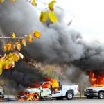 RCMPig cars burned after violent police raid Oct. 17th, 2013 Elsipogtog