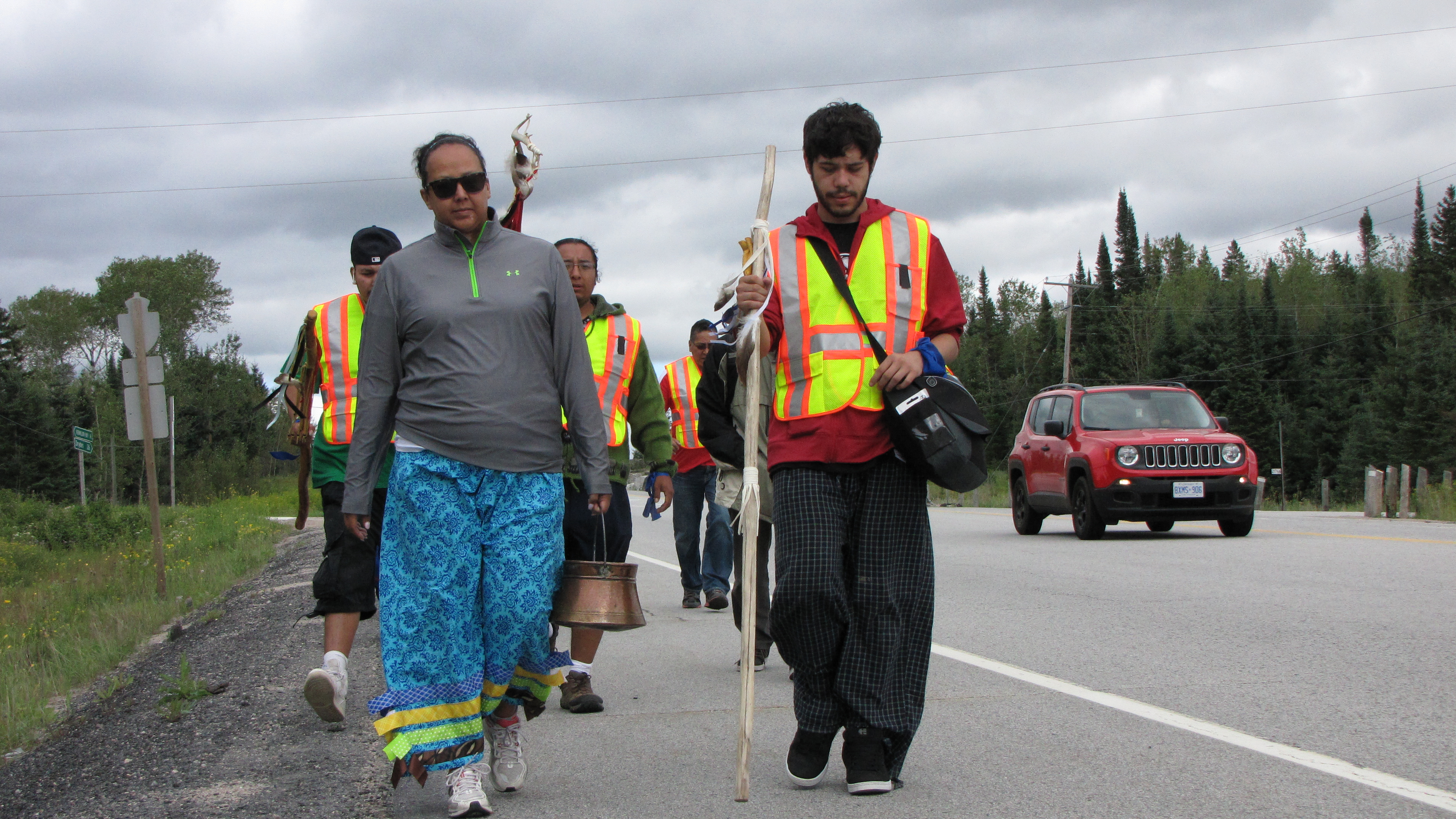 Walkers on the way to Kenora, ON